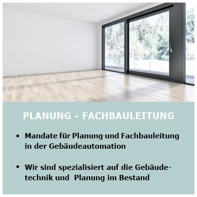 Gebäudetechnik, Fachbauleitung und Gebäudeautomation